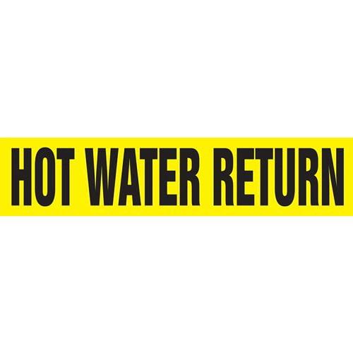 Hot Water Return Pipe Marker - ASME/ANSI (013790)