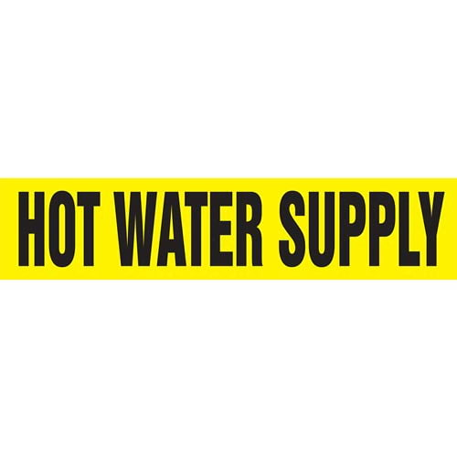 Hot Water Supply Pipe Marker - ASME/ANSI (013791)