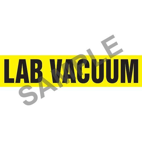 Lab Vacuum Pipe Marker - ASME/ANSI (013803)
