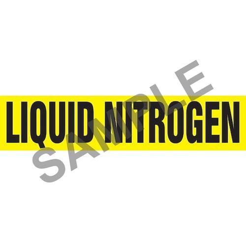 Liquid Nitrogen Pipe Marker - ASME/ANSI (013806)