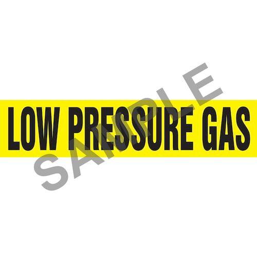 Low Pressure Gas Pipe Marker - ASME/ANSI (013810)