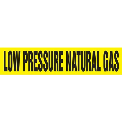 Low Pressure Natural Gas Pipe Marker - ASME/ANSI (013811)