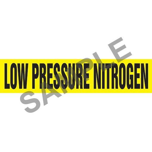Low Pressure Nitrogen Pipe Marker - ASME/ANSI (013812)