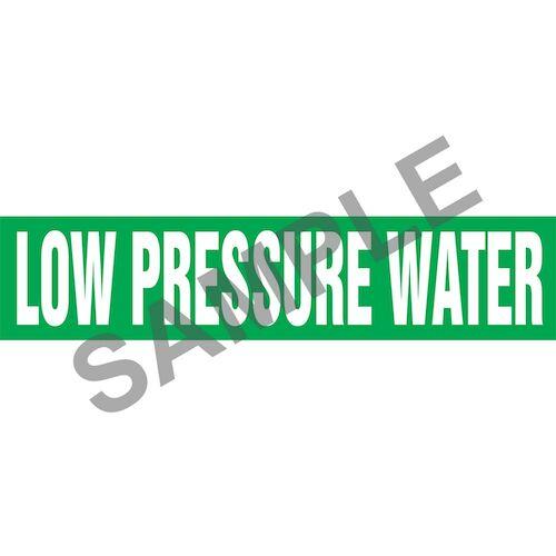 Low Pressure Water Pipe Marker - ASME/ANSI (013814)