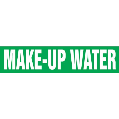 Make-Up Water Pipe Marker - ASME/ANSI (013816)