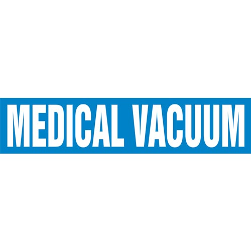 Medical Vacuum Pipe Marker - ASME/ANSI (013818)
