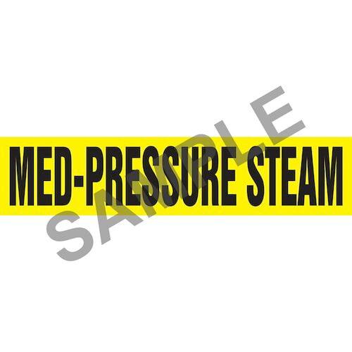Med-Pressure Steam Pipe Marker - ASME/ANSI (014319)