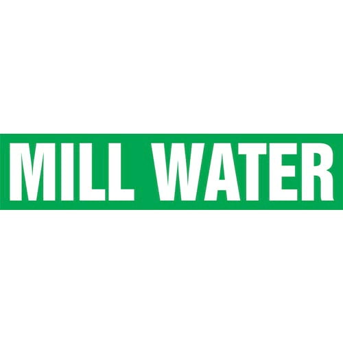 Mill Water Pipe Marker - ASME/ANSI (013822)