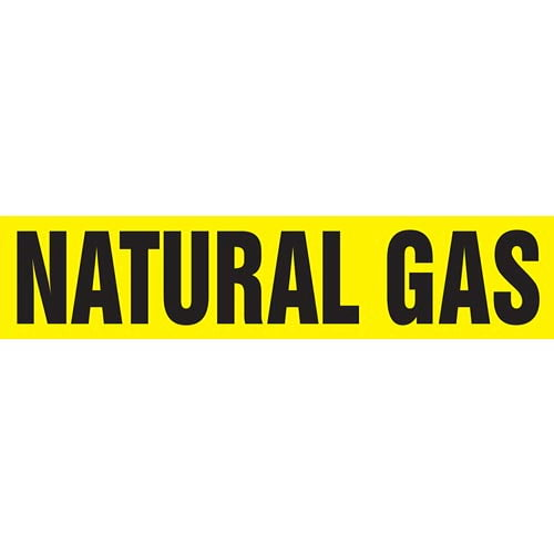 Natural Gas Pipe Marker - ASME/ANSI (013824)
