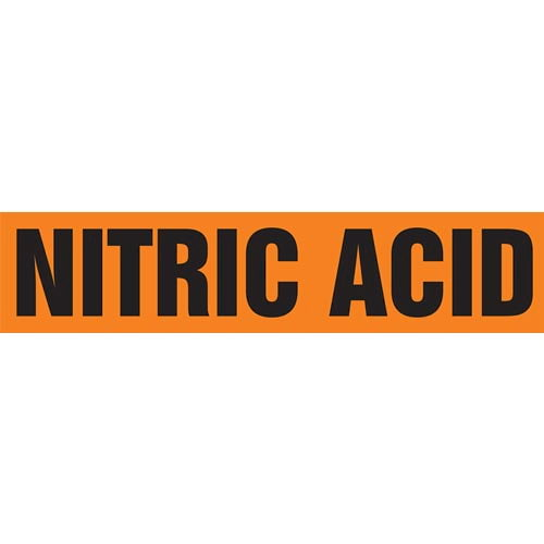 Nitric Acid Pipe Marker - ASME/ANSI (013825)