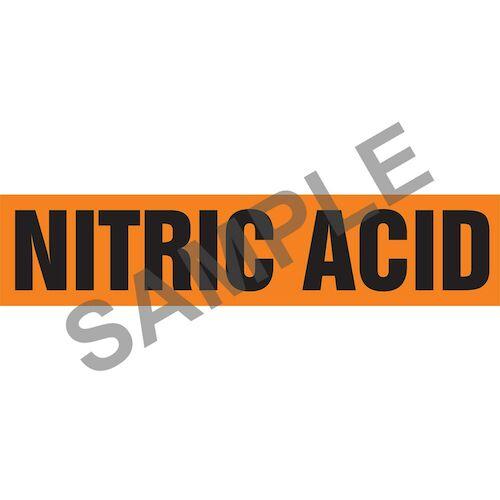 Nitric Acid Pipe Marker - ASME/ANSI (013825)