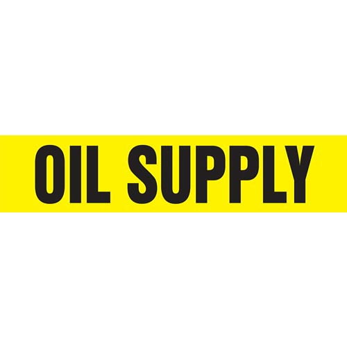 Oil Supply Pipe Marker - ASME/ANSI (013830)