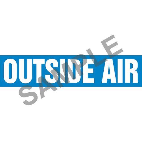 Outside Air Pipe Marker - ASME/ANSI (013831)