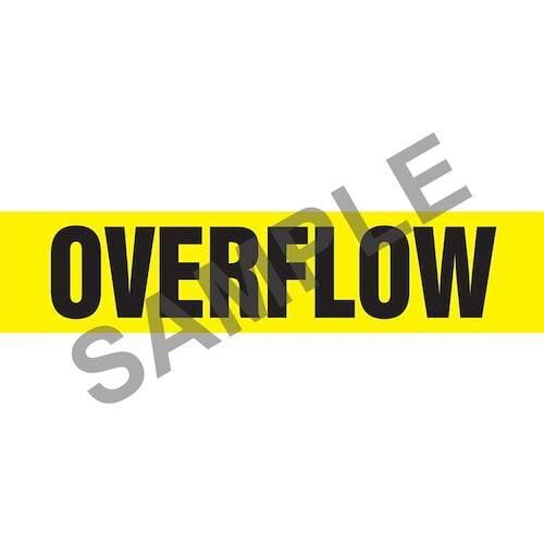 Overflow Pipe Marker - ASME/ANSI (013832)