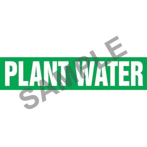 Plant Water Pipe Marker - ASME/ANSI (013836)