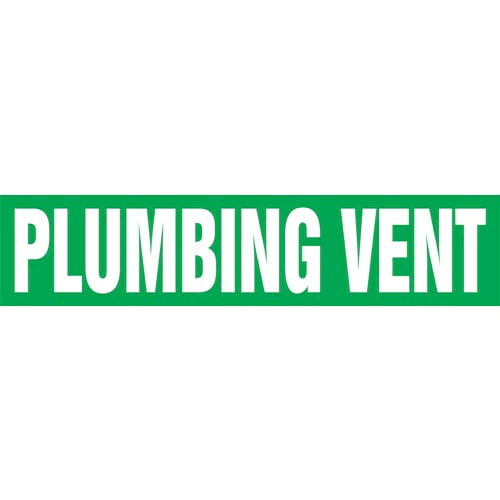 Plumbing Vent Pipe Marker - ASME/ANSI (013837)