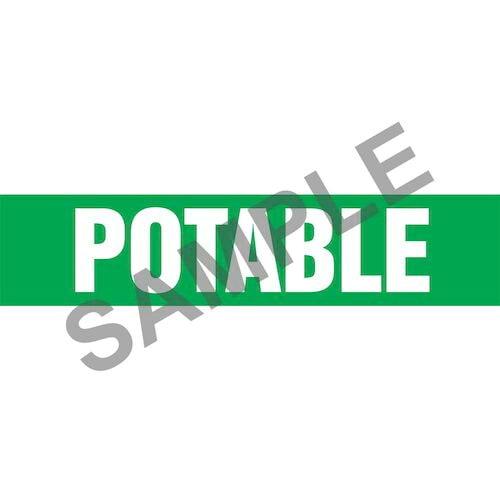 Potable Pipe Marker - ASME/ANSI (013840)