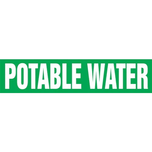 Potable Water Pipe Marker - ASME/ANSI (013841)