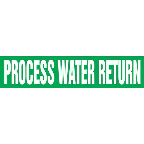 Process Water Return Pipe Marker - ASME/ANSI (013843)