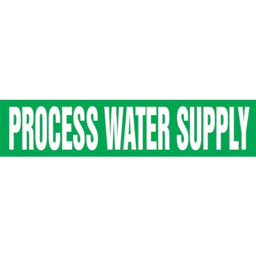Process Water Supply Pipe Marker - ASME/ANSI (013844)