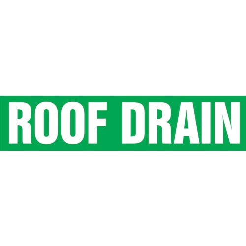 Roof Drain Pipe Marker - ASME/ANSI (013858)
