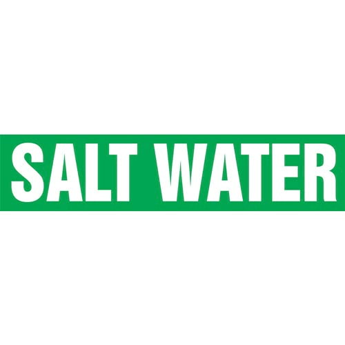 Salt Water Pipe Marker - ASME/ANSI (013859)