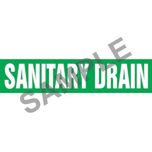 Sanitary Drain Pipe Marker - ASME/ANSI (013860)
