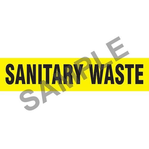 Sanitary Waste Pipe Marker - ASME/ANSI (013863)