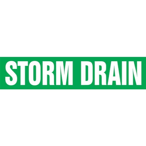 Storm Drain Pipe Marker - ASME/ANSI (013879)