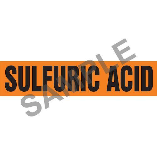 Sulfuric Acid Pipe Marker - ASME/ANSI (013883)