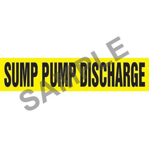 Sump Pump Discharge Pipe Marker - ASME/ANSI (013884)