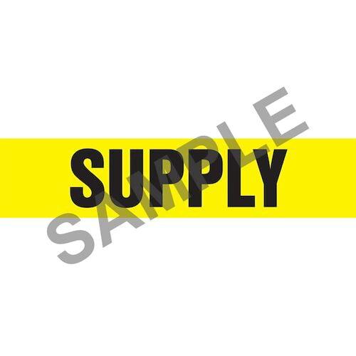 Supply Pipe Marker - ASME/ANSI (013885)