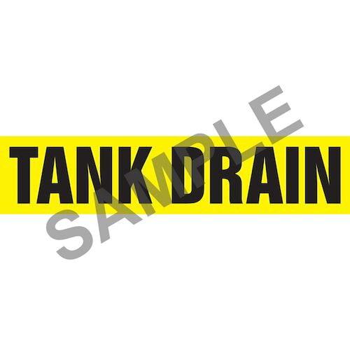 Tank Drain Marker - ASME/ANSI (013886)
