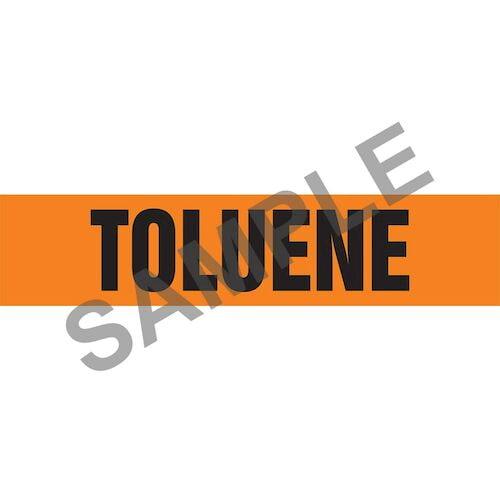 Toluene Pipe Marker - ASME/ANSI (013888)