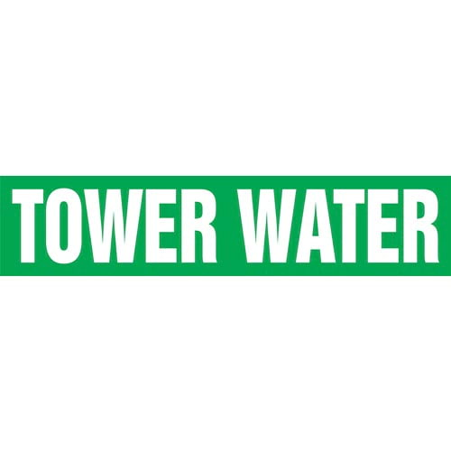 Tower Water Pipe Marker - ASME/ANSI (013889)