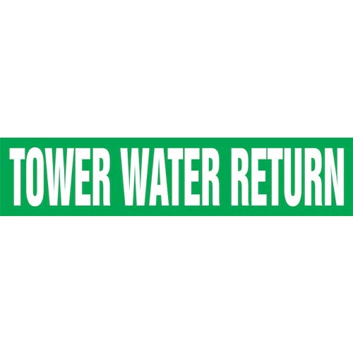 Tower Water Return Pipe Marker - ASME/ANSI (013890)