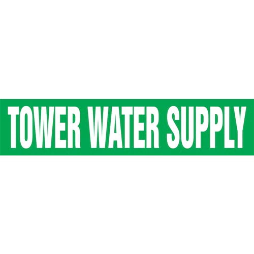 Tower Water Supply Pipe Marker - ASME/ANSI (013891)