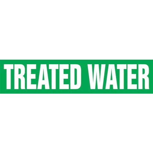 Treated Water Pipe Marker - ASME/ANSI (013892)