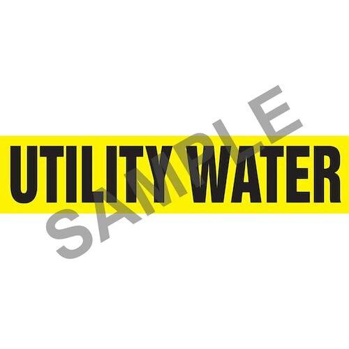 Utility Water Pipe Marker - ASME/ANSI (013893)