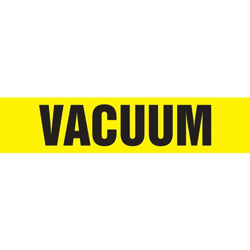 Vacuum Pipe Marker - ASME/ANSI (013894)
