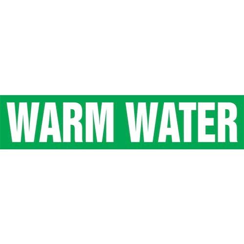 Warm Water Pipe Marker - ASME/ANSI (013896)