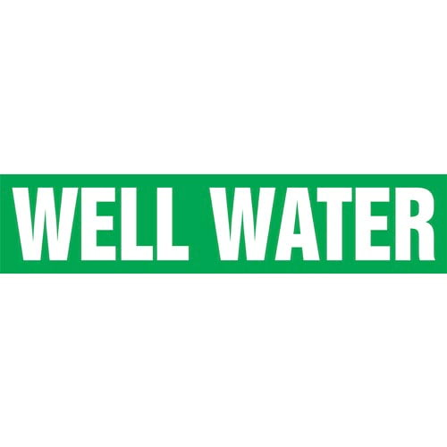 Well Water Pipe Marker - ASME/ANSI (013900)