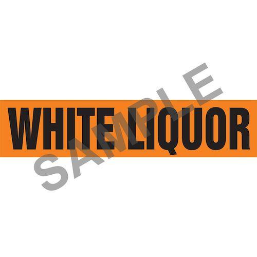 White Liquor Pipe Marker - ASME/ANSI (013901)