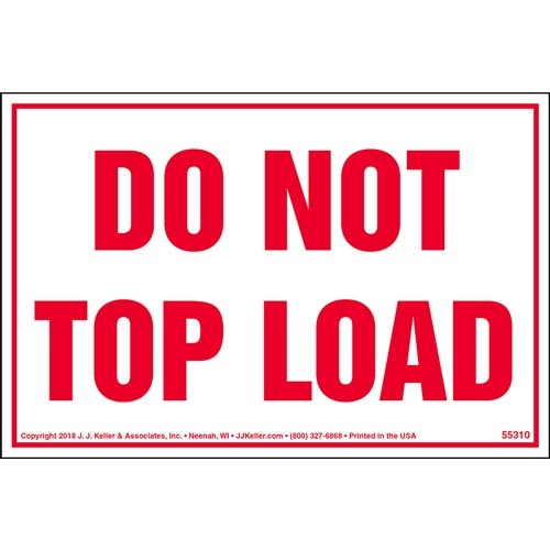 Do Not Top Load Shipping Label (014003)