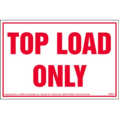 Top Load Only Shipping Label (014004)