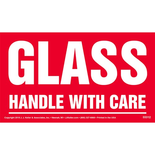 Glass: Handle With Care Shipping Label (014005)