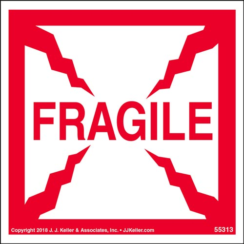 Fragile Shipping Label (014006)