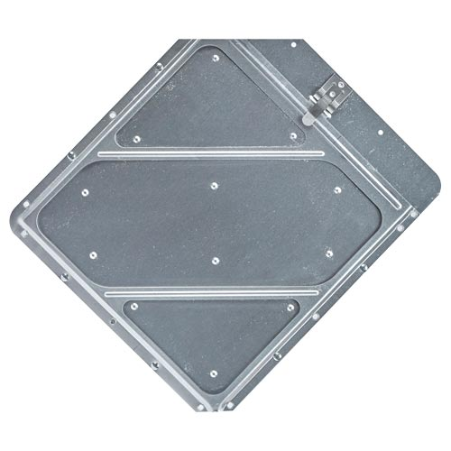 Heavy-Duty Riveted Aluminum Placard Holder (014054)