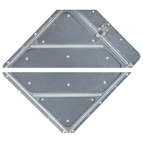 Heavy-Duty Riveted Split Aluminum Placard Holder (014055)