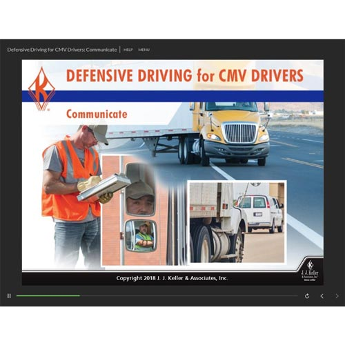 Defensive Driving for CMV Drivers: Communicate - Online Training Course (014084)